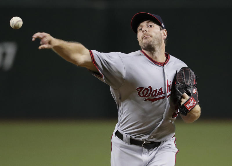 Max Scherzer leaves game with neck spasm after hitting home run
