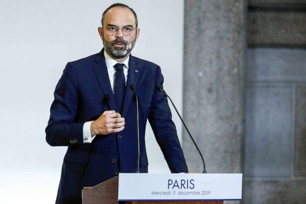 PHOTO: French Prime Minister Edouard Philippe unveils the details of a pensions reform plan before the CESE in Paris, Dec. 11, 2019. (Thomas Samson/Pool via Reuters)