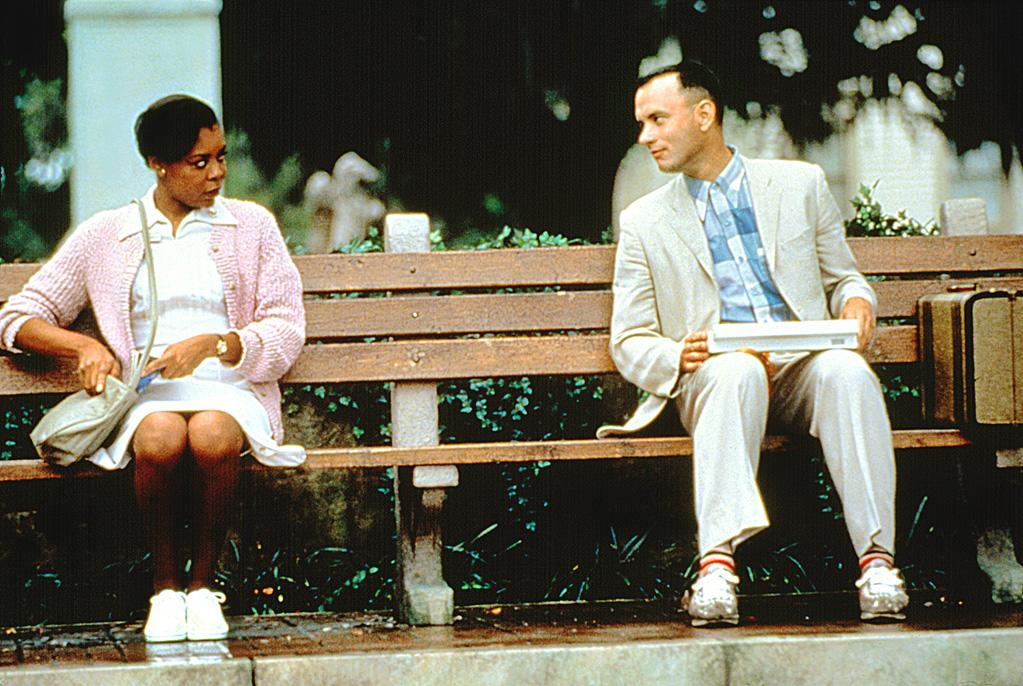 """<a href=""""http://movies.yahoo.com/movie/forrest-gump/"""">FORREST GUMP</a> <br> Directed by: Robert Zemeckis<br>Starring: Tom Hanks, Robin Wright, Gary Sinise"""