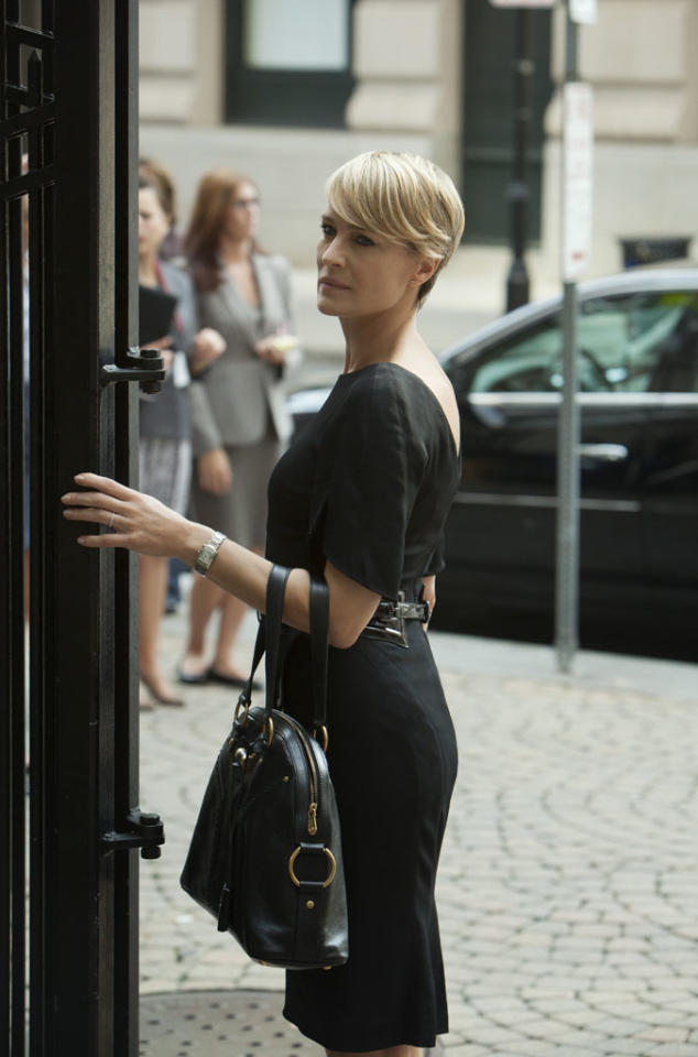 "Robin Wright in the ""House of Cards"" Season 1 episode, ""Chapter 9."""