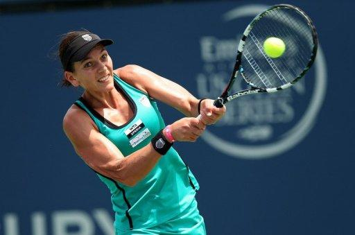 Chanelle Scheepers, pictured, lost her opener 6-2, 6-1 to Magdelena Rybarikova at the Washington Open