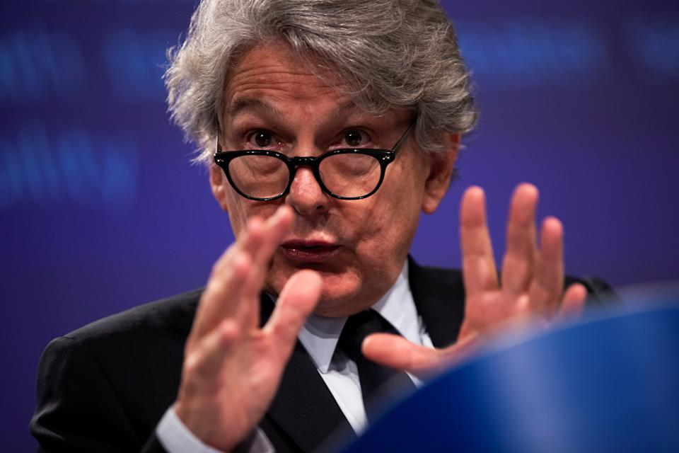 European Union Internal Market Commissioner Thierry Breton