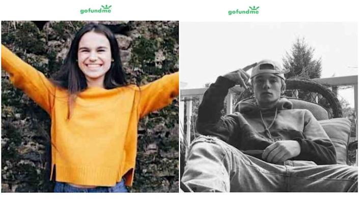 The 2018 crash killed 17-year-old Meghan Keeney, left, and 16-year-old Jack Nicholson, right.
