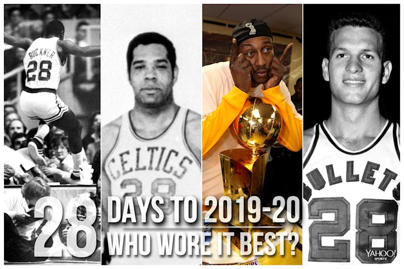 Which NBA player wore No. 28 best?
