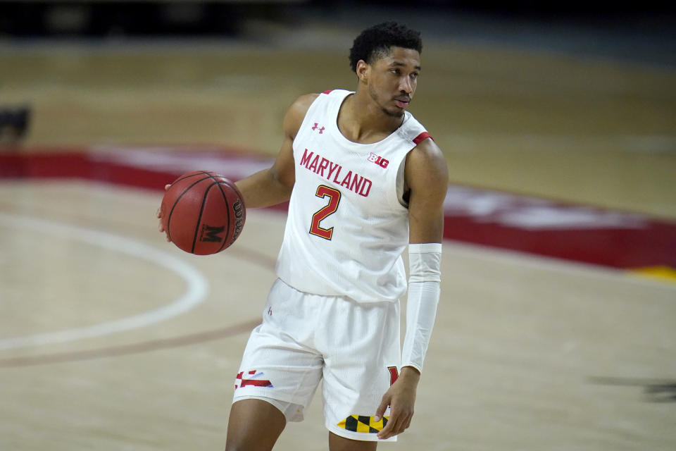Aaron Wiggins had 21 points and matched a season-high with 11 rebounds, leading Maryland to a 64-50 victory over Nebraska on Tuesday night in the first of back-to-back games between the teams.