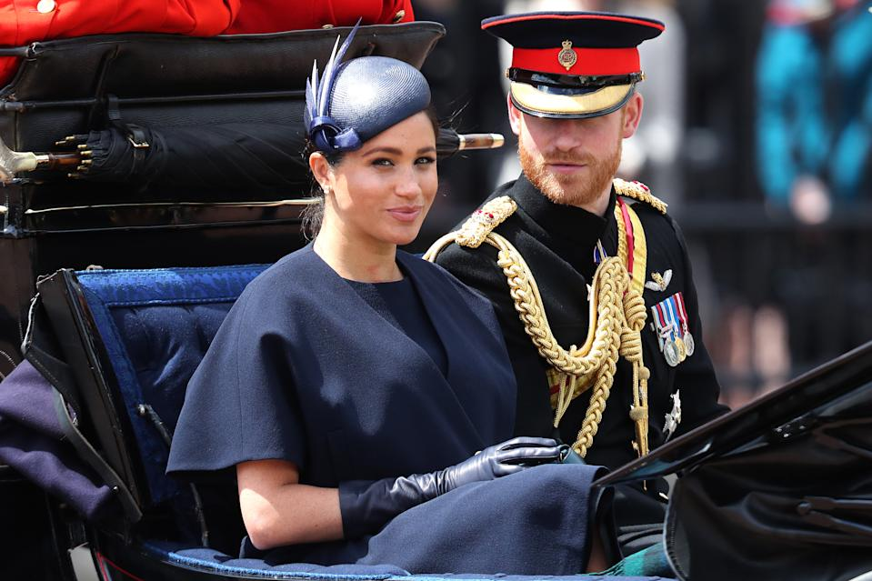 Megan Markle and Prince Harry at Trooping the Colour