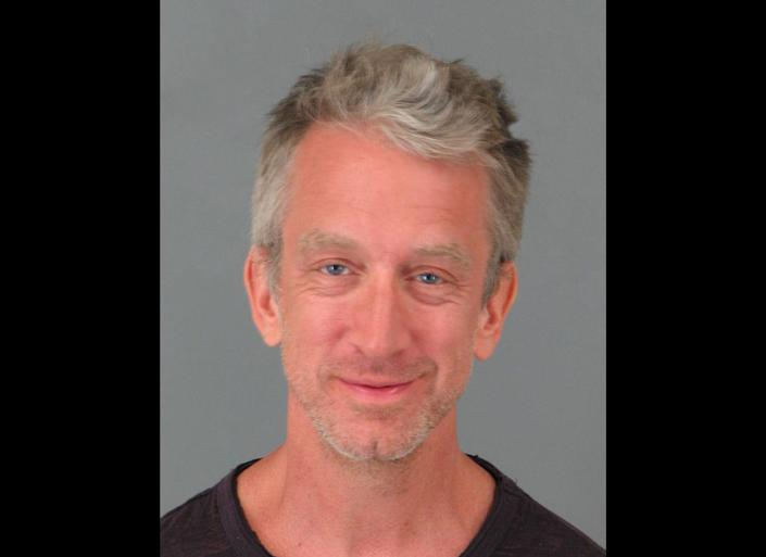 Andy Dick smirks in his mugshot after being arrested at a restaurant in Temecula, California, for allegedly being under the influence of drugs or alcohol. The 45-year-old comic was listed on the booking sheet as 5ft 10in and weighing 155lbs. He was apparently at 9.20pm on May 2 at a Marie Callenders, not a restaurant chain known as a celebrity hotspot. (Splash)