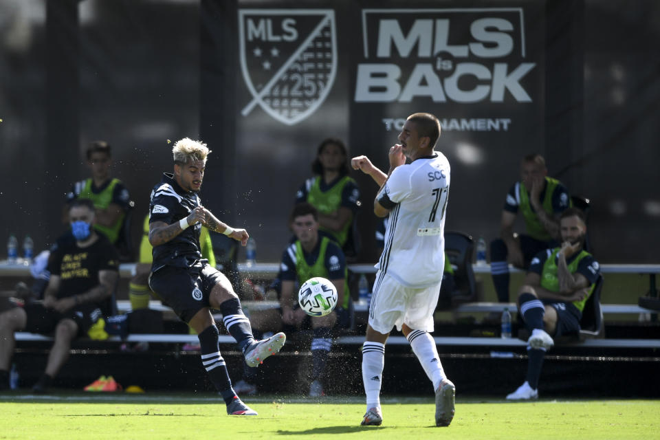 Players are competing at the MLS is Back Tournament while away from their families, and that can be a big challenge. (Photo by Douglas P. DeFelice/Getty Images)