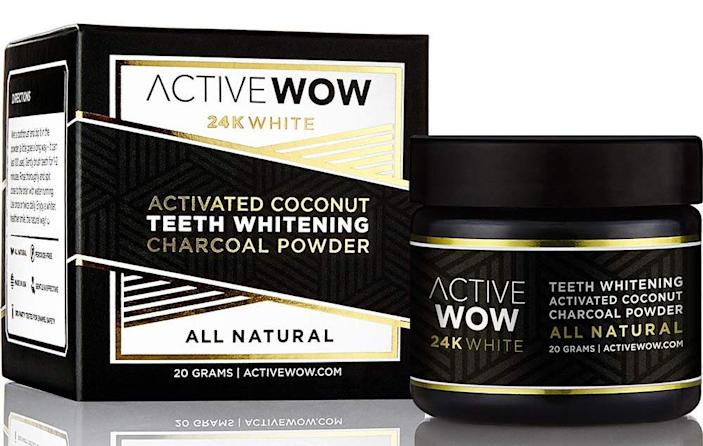 Active Wow Teeth Whitening Charcoal Powder. (Photo: Amazon)