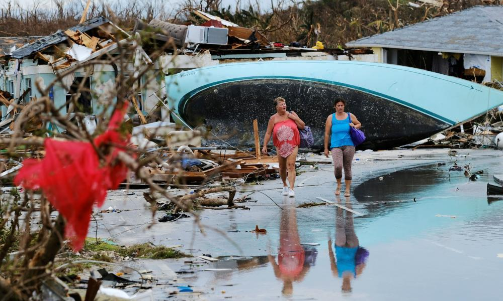 """<span class=""""element-image__caption"""">The aftermath of Hurricane Dorian in Marsh Harbour.</span> <span class=""""element-image__credit"""">Photograph: Dante Carrer/Reuters</span>"""
