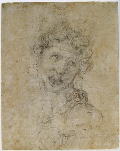 The reverse side of Michelangelo's drawing, revealed in 1988.