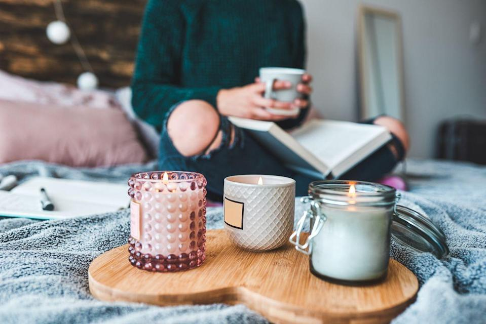 <p>Aromatherapy has great benefits for your mood, and makes your house smell wonderful. Many candles come at an affordable price point, so you don't have to shell out much for comfort. Lighting a nice candle adds an air of homeyness to your space too. </p>