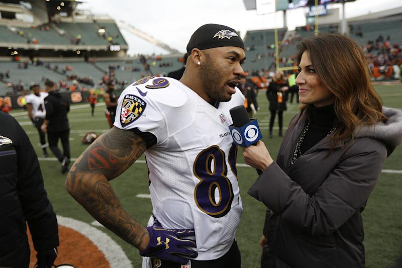 Baltimore Ravens wide receiver Steve Smith discussed his battle with depression through his career. (AP)