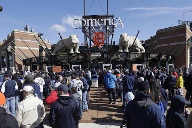 Comerica Park was a wild place to be on Saturday. (AP)