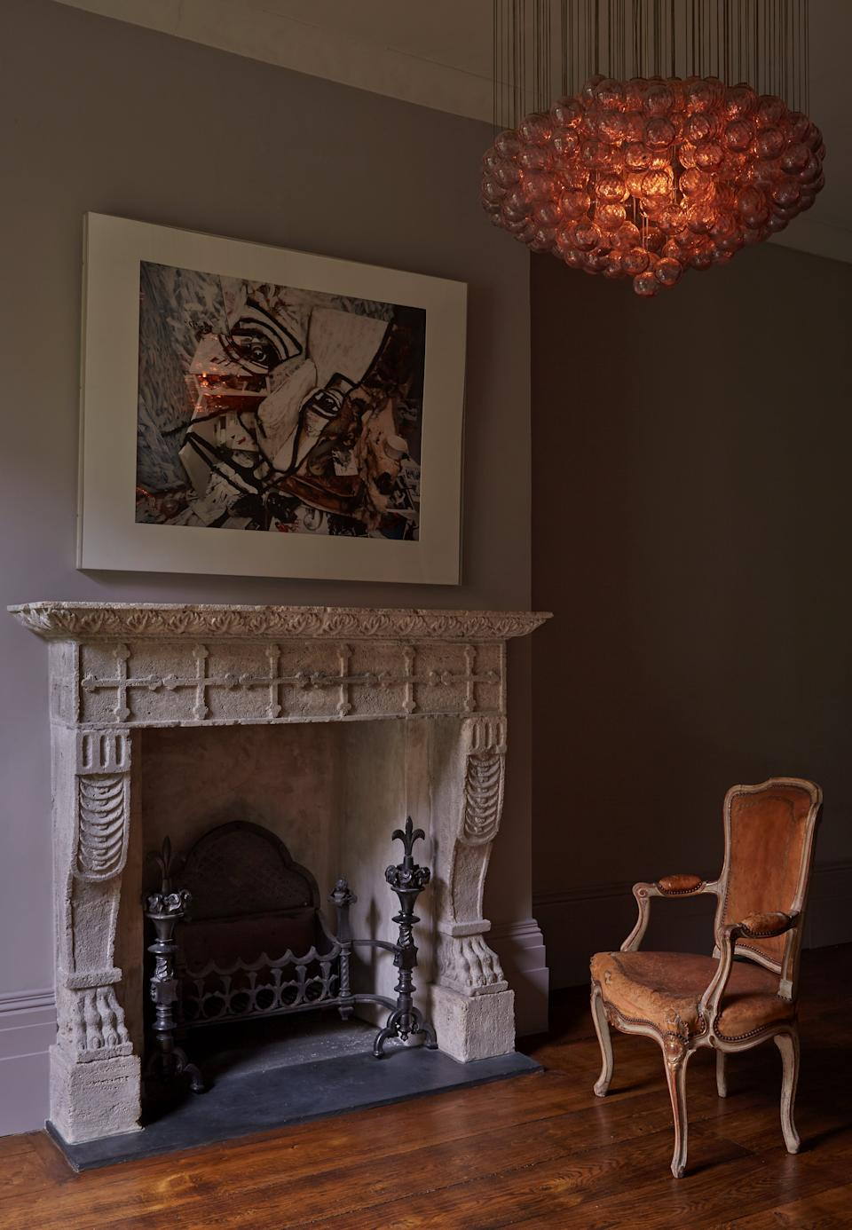 Who wouldn't want to curl up with a book in front of this fireplace?Renaissance London