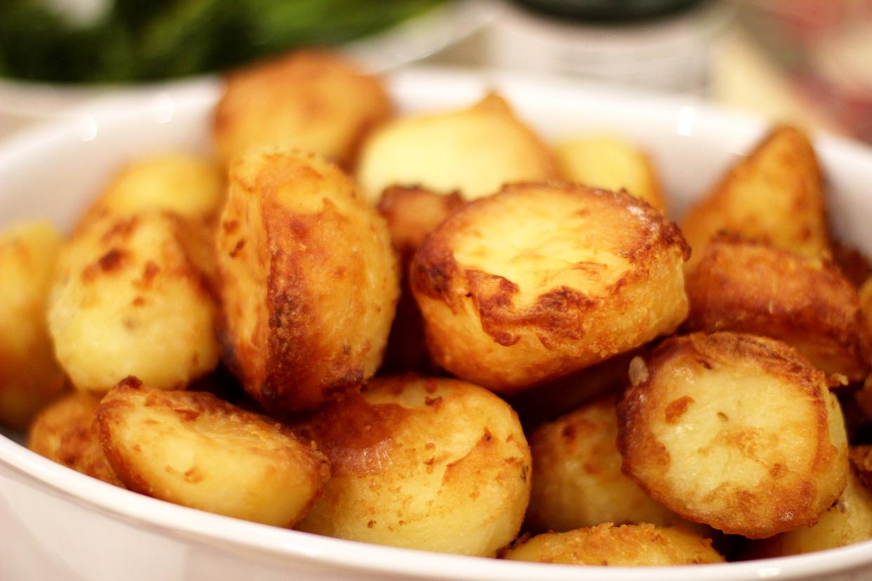 A TikTok user has shared a genius hack to create the perfect crisp on a roast potato. (Getty Images)