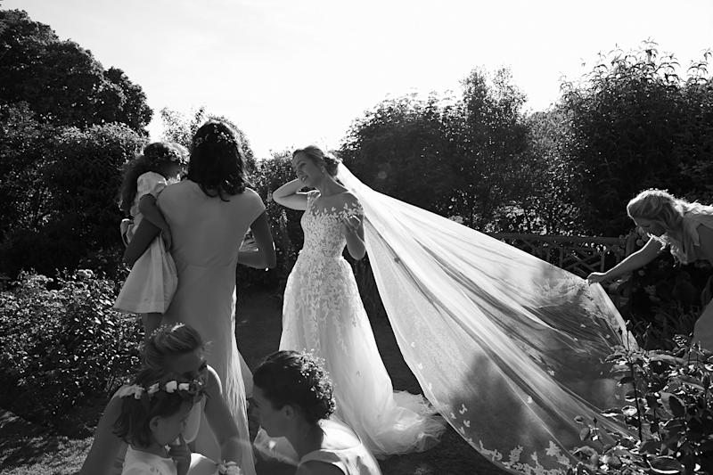 The veil was so romantic and ethereal: I didn't want to take it off. I kept it on right up until the first dance.