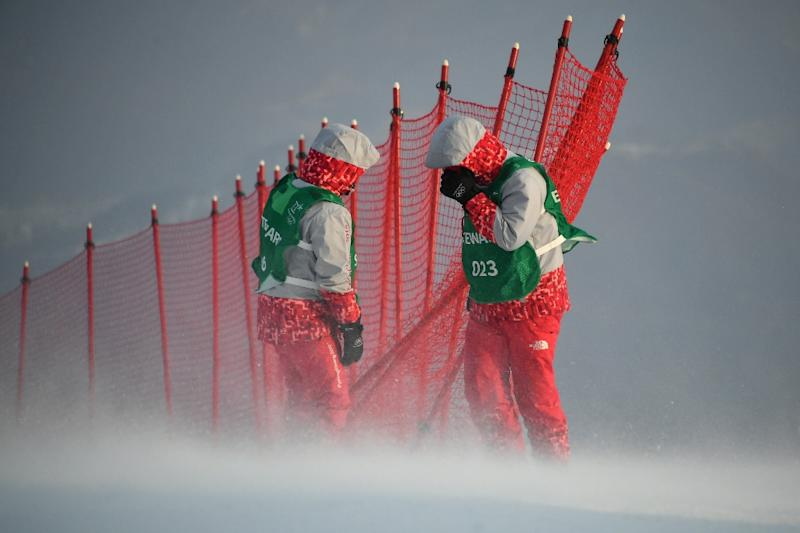 Strong winds have affected every alpine skiing event so far at the Pyeongchang Games. (AFP Photo/Fabrice COFFRINI)