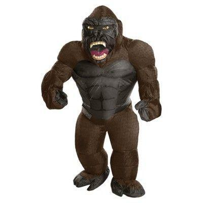 """<p><strong>Rubie's</strong></p><p>target.com</p><p><strong>$58.99</strong></p><p><a href=""""https://www.target.com/p/adult-king-kong-inflatable-costume/-/A-52531767"""" rel=""""nofollow noopener"""" target=""""_blank"""" data-ylk=""""slk:Shop Now"""" class=""""link rapid-noclick-resp"""">Shop Now</a></p><p>Who's the king of the jungle? YOU ARE. </p>"""