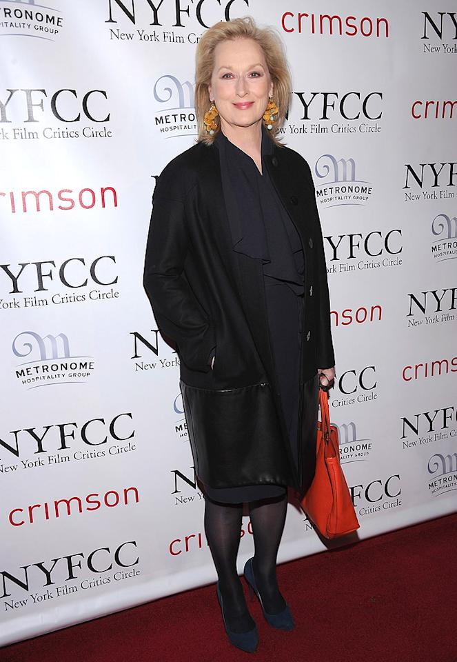 "<a href=""http://movies.yahoo.com/movie/contributor/1800018835"">Meryl Streep</a> at the 2011 New York Film Critics Circle Awards in New York City on January 9, 2012."