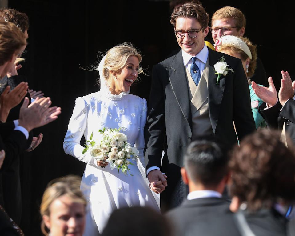 The happy couple leave York Minster [Photo: Getty]