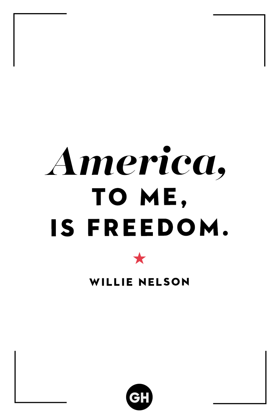 <p>America, to me, is freedom.</p>