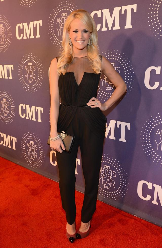 FRANKLIN, TN - DECEMBER 03: Carrie Underwood attends 2012 CMT Artists Of The Year at The Factory at Franklin on December 3, 2012 in Franklin, Tennessee. (Photo by Rick Diamond/Getty Images for CMT)