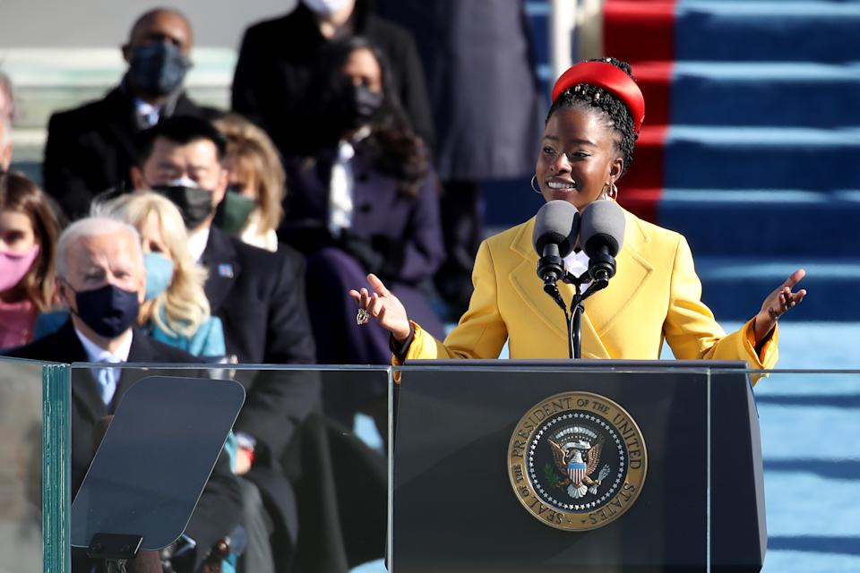 Amanda Gorman, seen here speaking during the inauguration of U.S. President-elect Joe Biden on January 20, 2021. (Photo: Rob Carr/Getty Images)