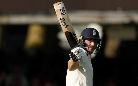 Lord's Cricket Ground, London, Britain - May 26, 2018 England's Jos Buttler celebrates reaching a half century - Credit: REUTERS
