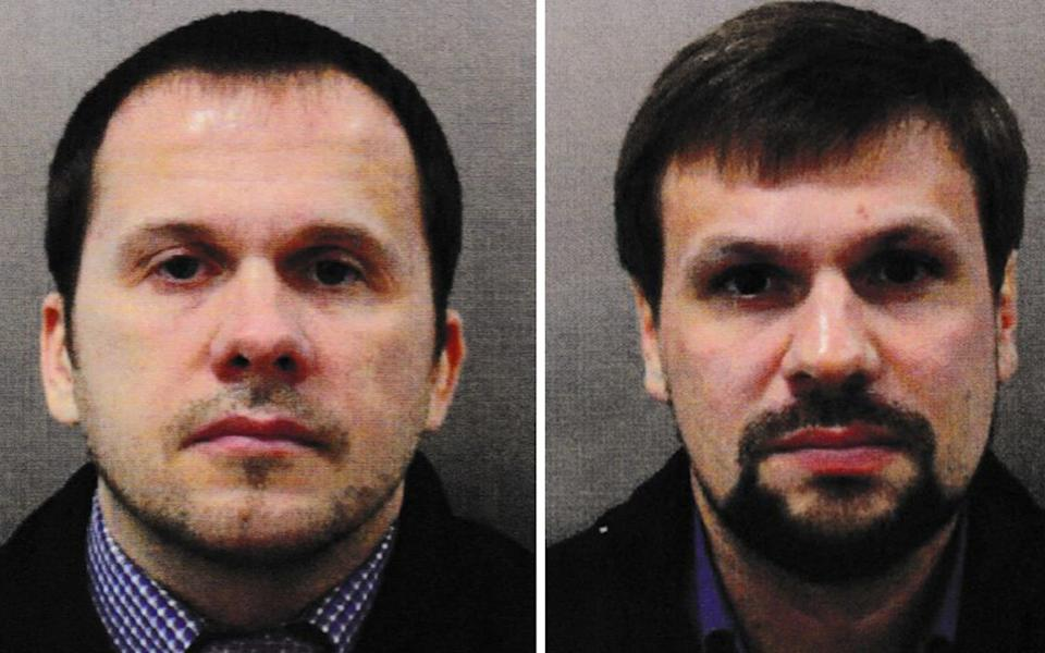 REVIEW OF THE YEAR PICS 2018 Undated handout file photo issued by the Metropolitan Police of Alexander Petrov (left) and Ruslan Boshirov. The CPS issued European Arrest Warrants for the extradition of the two Russian Nationals in connection with the Novichok poisoning attack on Sergei Skripal and his daughter Yulia in March. PRESS ASSOCIATION Photo. Issue date: Sunday December 16, 2018. See PA story XMAS Year. Photo credit should read: Metropolitan Police/PA Wire NOTE TO EDITORS: This handout photo may only be used in for editorial reporting purposes for the contemporaneous illustration of events, things or the people in the image or facts mentioned in the caption. Reuse of the picture may require further permission from the copyright holder.