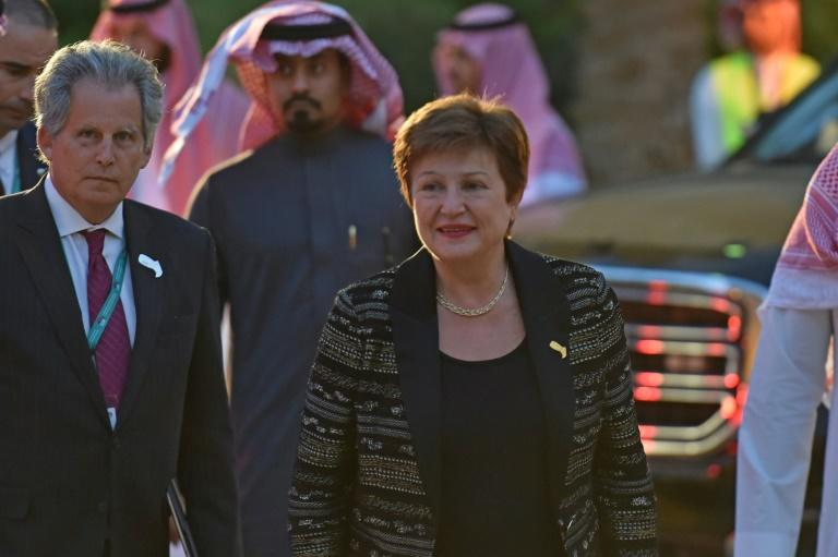 International Monetary Fund chief Kristalina Georgieva at the Murabba Palace in Riyadh