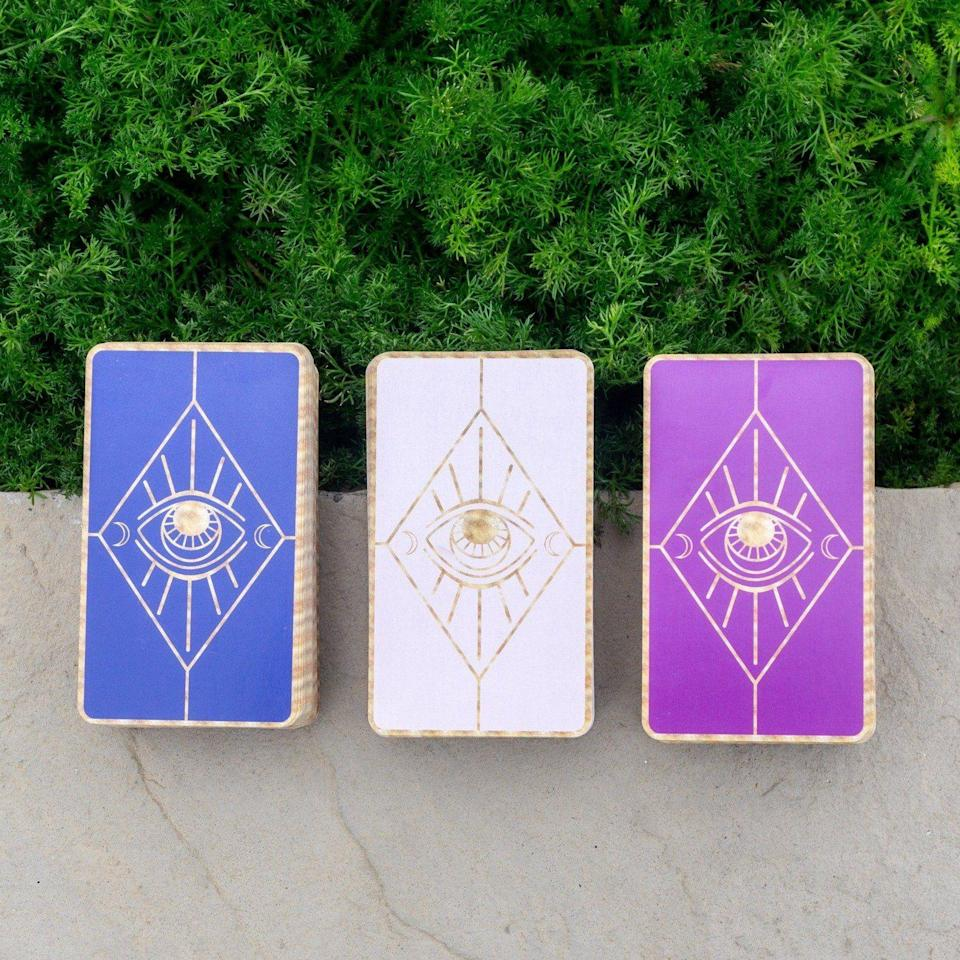 """<p>prettyspirits.com</p><p><strong>$50.00</strong></p><p><a href=""""https://prettyspirits.com/collections/truth-decks/products/the-truth-decks-2nd-edition"""" rel=""""nofollow noopener"""" target=""""_blank"""" data-ylk=""""slk:Shop Now"""" class=""""link rapid-noclick-resp"""">Shop Now</a></p><p>Help your Gem friend get in touch with their intuition with a set of oracle cards.</p>"""