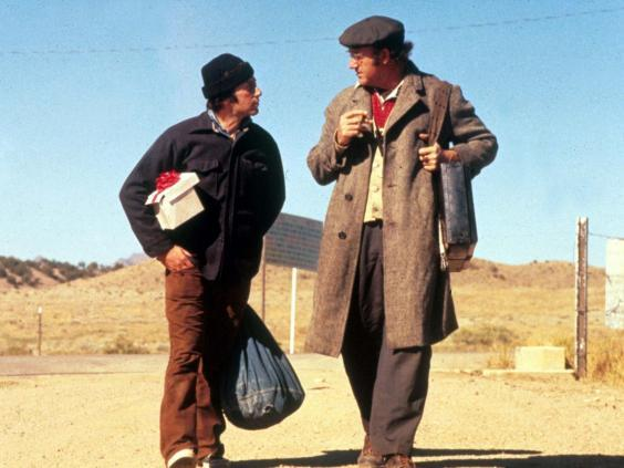 With Al Pacino in 'Scarecrow', the 1973 movie Hackman described as his favourite to work on (Rex)