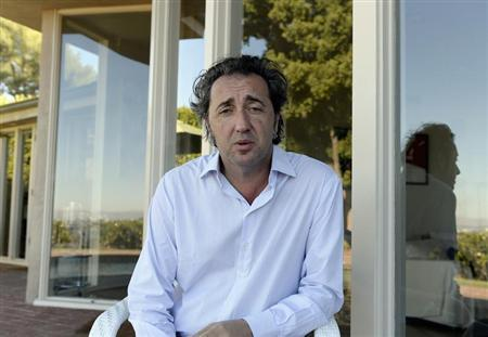 "Paolo Sorrentino, director of Oscar nominated foreign-language film ""The Great Beauty"", poses in Los Angeles"