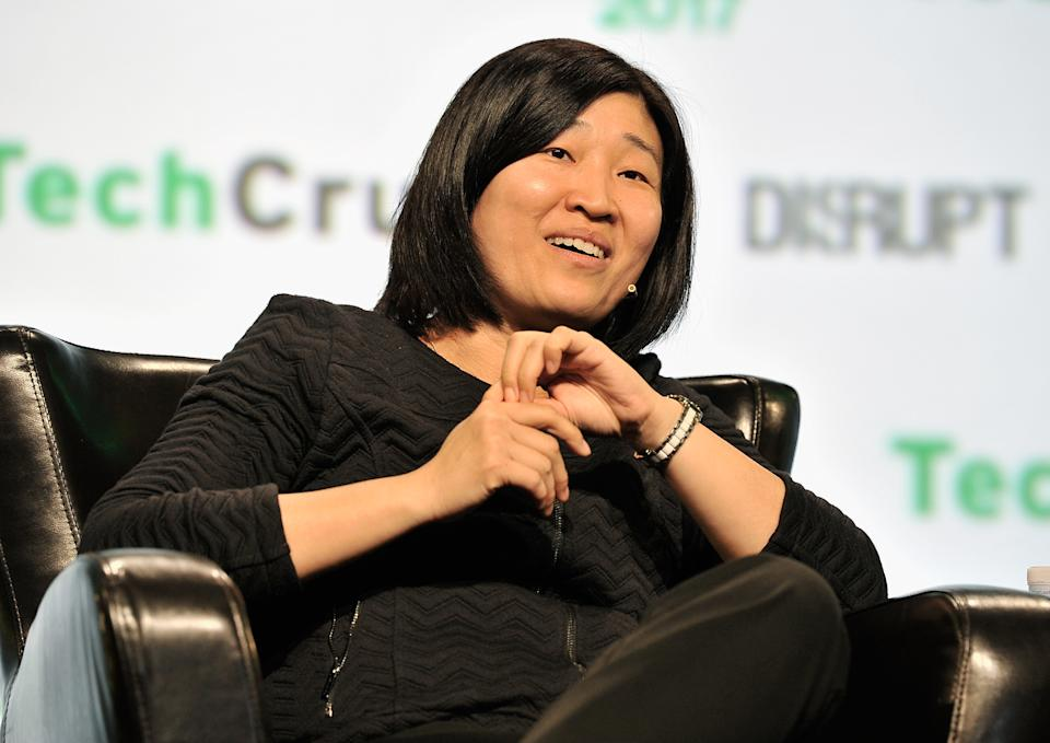 SAN FRANCISCO, CA - SEPTEMBER 19:  GGV Capital Managing Partner Jenny Lee speaks onstage during TechCrunch Disrupt SF 2017   at Pier 48 on September 19, 2017 in San Francisco, California.  (Photo by Steve Jennings/Getty Images for TechCrunch)