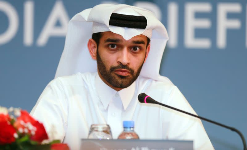 FILE PHOTO: Secretary General of the Qatar 2022 Supreme Committee Hassan Abdulla Al Thawadi speaks during a news conference in Doha