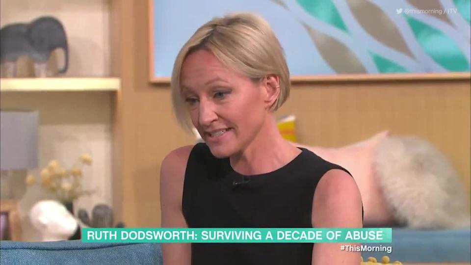 <p>ITV weather presenter Ruth Dodsworth talks to This Morning about the abuse she suffered at the hands of her ex-husband Jonathan Wignall, who has been jailed.</p> <p>Credit: @thismorning via Twitter / ITV</p>
