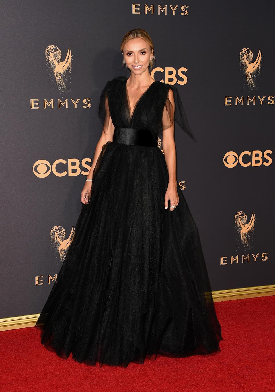 <p>Giuliana Rancic attends the 69th Primetime Emmy Awards at the Microsoft Theater on Sept. 17, 2017, in Los Angeles. (Photo: Getty Images) </p>