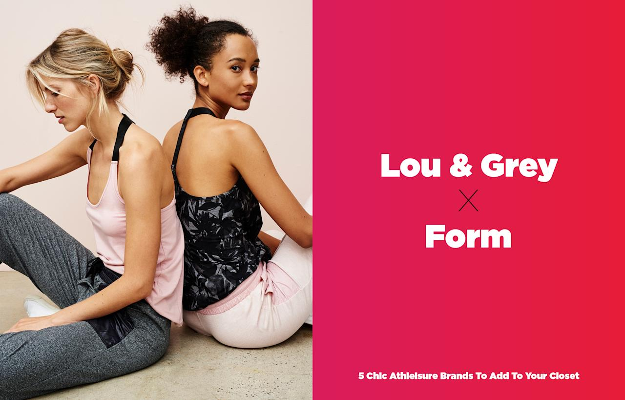 <p>An extension of Lou & Grey, Form is the next big athleisure line you need to add to your closet right now. The collection is tailor-made for the millennial woman who loves clean, minimalistic workout gear. Made of fresh shades and bold prints, the collection is also affordably priced under $100. Mix and match Form pieces for a variety of occasions, whether it's a quick run, a gym session, or simply to lounge around with your BFFs. (Photo: courtesy of Lou & Grey; art: Quinn Lemmers) </p>