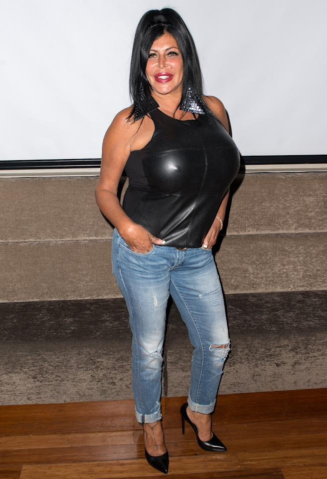 NEW YORK, NY - JULY 30: TV personality Angela 'Big Ang' Raiola attends dinner and a movie at KTCHN Restaurant on July 30, 2013 in New York City. (Photo by Michael Stewart/WireImage)
