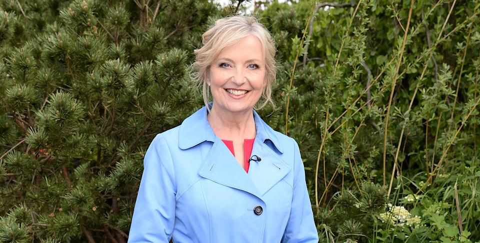 Carol Kirkwood injured her knee in a bike accident. (Getty Images)