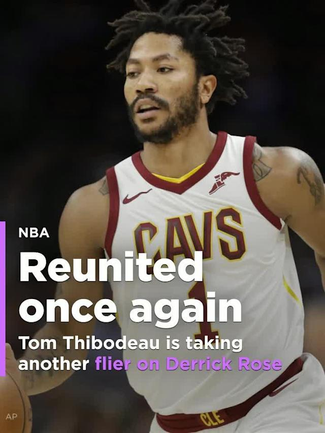 Former MVP Derrick Rose is signing with Minnesota for the rest of the year to reunite with his old coach Tom Thibodeau.