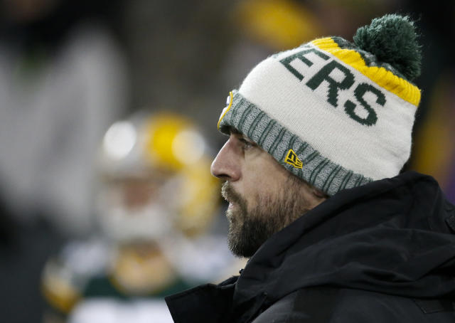 Aaron Rodgers played last week in a loss to the Carolina Panthers before calling it quits for the season. (AP)