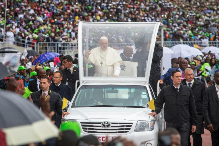 Many travelled hundreds of miles to see the pontiff