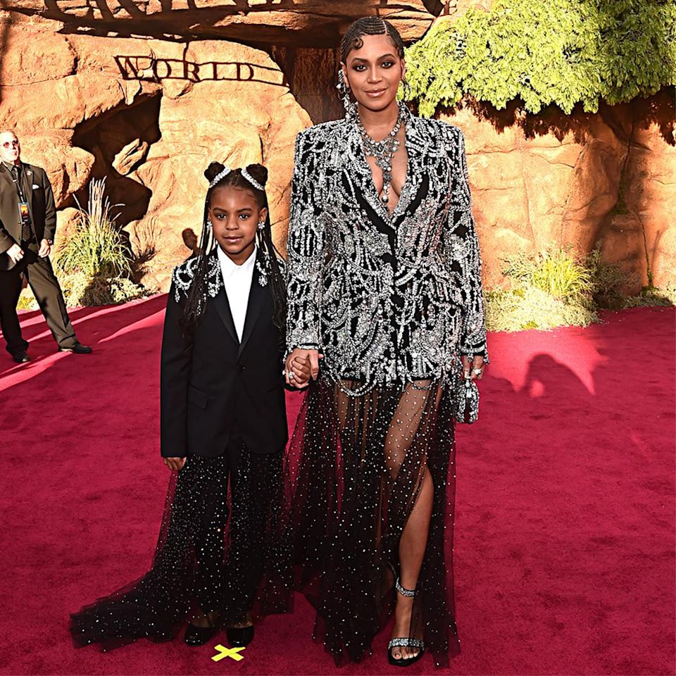 """When your mom is Beyoncé and your dad is JAY-Z, there's no doubt superstardom runs in your veins. Blue Ivy <a href=""""https://www.complex.com/music/2018/01/jay-z-new-video-blues-freestyle"""">has already begun</a> to make her mark, <a href=""""https://people.com/music/blue-ivy-carter-scores-first-billboard-hot-100-song/"""">helping her mom pen a song</a> for a companion album to<em>The Lion King </em>remake, titled<em><a href=""""https://www.amazon.com/Lion-King-Gift-Beyonc%C3%A9/dp/B07VDMGQS6/ref=sr_1_1?ie=UTF8&camp=1789&creative=9325&linkCode=as2&creativeASIN=B07VDMGQS6&tag=people0d0-20&ascsubtag=10d6363f32491557c6bfa6668d3e1c45"""">The Lion King: The Gift</a>.</em> The song, """"Brown Skin Girl,"""" earned her and her mom a spot on the Billboard Top 100. Blue not only helped to write the song, she also sings on the track <em>and</em>appears in the music video.  Did we mention that Blue is only 8 years old?!"""