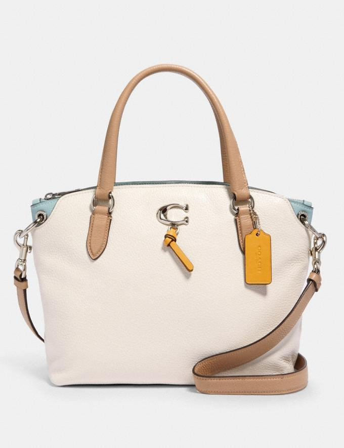 Remi Satchel In Colorblock is on sale at Coach Outlet, $96 (originally $398).