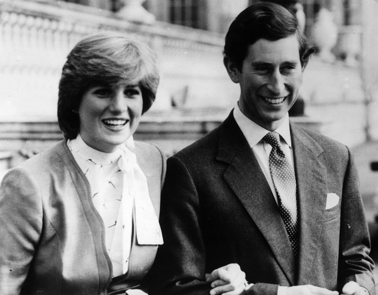 <p>On the grounds of Buckingham Palace before their wedding</p>