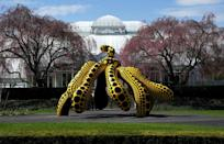 "Yayoi Kusama's ""Dancing Pumpkin"" sculpture was created specially for the Bronx exhibition"