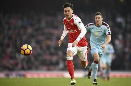 Football Soccer Britain - Arsenal v Burnley - Premier League - Emirates Stadium - 22/1/17 Arsenal's Mesut Ozil in action Reuters / Dylan Martinez Livepic