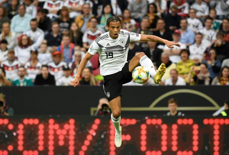 Germany winger Leroy Sane knuckled down to work on Monday with Bayern Munich - a week before the bulk of the squad returns from holiday